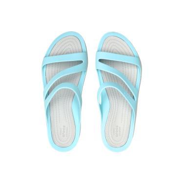 Sandália Crocs Swiftwater Azul Crocs 203998-4CV feminino