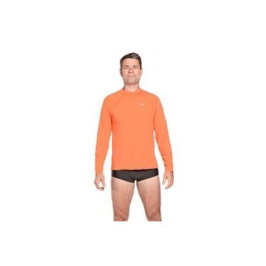 Camiseta Masculina Manga Longa UV 50+ Laranja