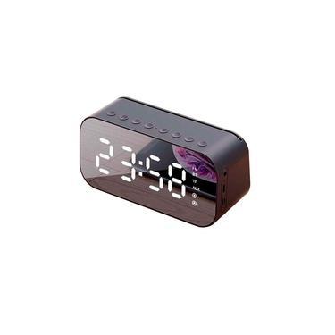 Caixa De Som Rádio Relógio Despertador Bluetooth USB SD