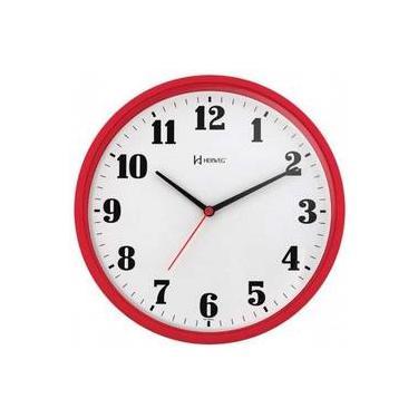 18e59455a76 Relógio Parede Herweg 6126 269 Analogico 26cm Vermelho