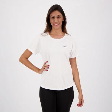 Camiseta Fila Basic Sports Feminina Branca - EG