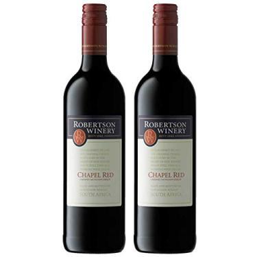 Kit 2 Vinho Tinto Sul-Africano Robertson Cabernet Sauvignon/Merlot 2017