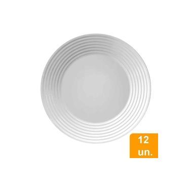 Conjunto De Pratos Raso De Vidro 12 Peças Opaline Saturno - Duralex