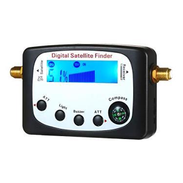 Nishore Localizador de Sinal de Satélite Localizador de Satélite Digital Medidor SF-9509 Mini Localizador de Sinal de Satélite Digital Medidor de LCD Exibindo com Bússola