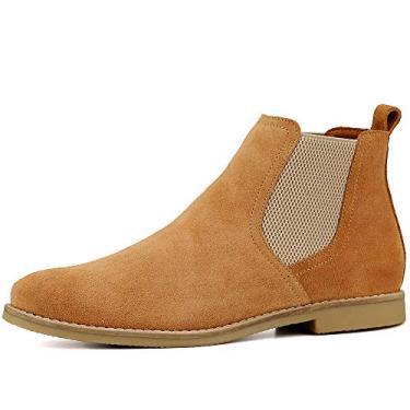 Botina Chelsea Boots Masculina Couro Camurça 502 Tamanho:39;Cor:Laranja