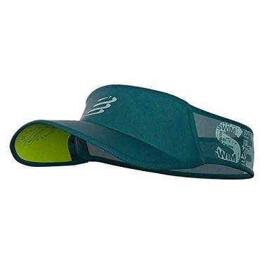 Viseira Ultralight - Swim-Bike-Run Verde Escuro/Cinza