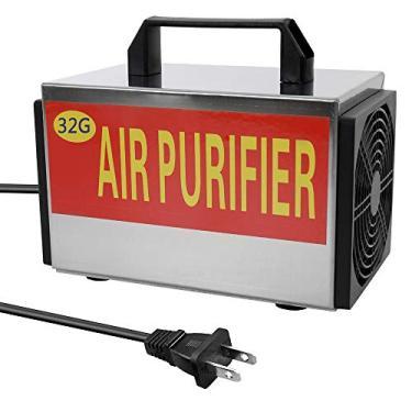 Romacci 110V portátil ozônio 32g/h máquina gerador purificador de filtro de ar com interruptor de sincronismo Ozonizador ozonizador para carro doméstico formaldeído