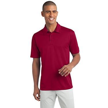 Camisa polo Port Authority Silk Touch Performance, Vermelho, 3XL