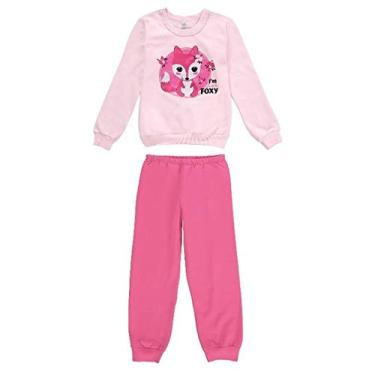 Pijama Moletom Infantil Menina Malwee Liberta Ref. 77373 Cor:Rosa Claro;Tamanho:8