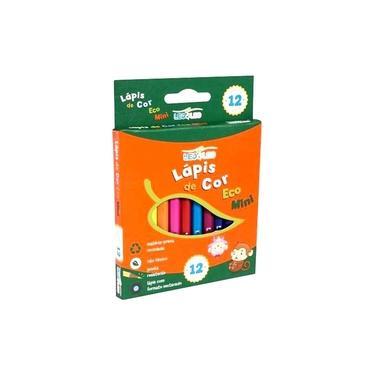Lápis De Cor Eco Mini - Sextavado Leo E Leo 12 cores