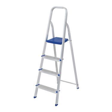 Escada Dobrável Em Alumínio 4 Degraus Mor 5102