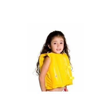 Imagem de Boia Tipo Colete Salva-Vidas Infantil Inflável Amarelo - Mor