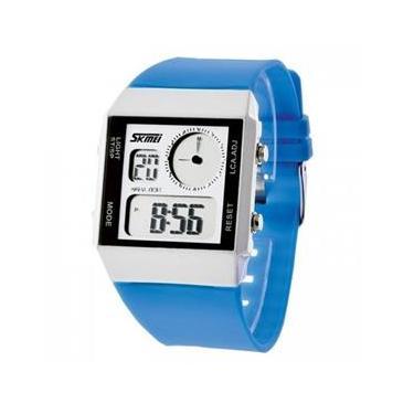 0f2d703d4b0 Relógio Feminino Skmei Anadigi 0841 Azul