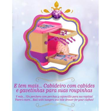 Imagem de Berço Bercinho para Boneca Princess Meg - Rosa - Magic Toys
