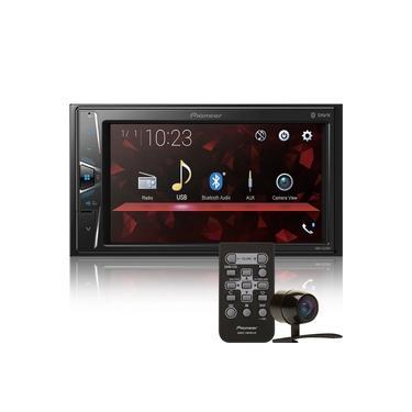 Kit Central Multimídia Pioneer DMH-G228BT 2 Din 6,2 pol Touch BT USB AUX + Câmera de ré