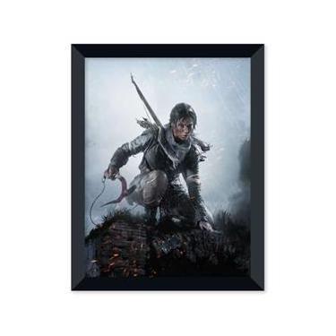 Poster de Rise Of The Tomb Rider Com Moldura - Preto