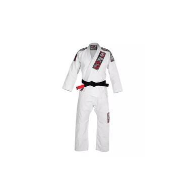 Kimono Jiu Jitsu Extreme Unissex em Algodão - Branco - Naja