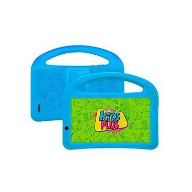 Imagem de Tablet Dl Kids Plus 7 8Gb 1Gb Wifi Capa Com Alça Azul