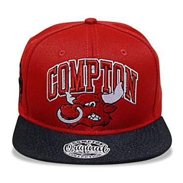 Imagem de Boné Snapback Aba Reta Bulls Vermelho Compton