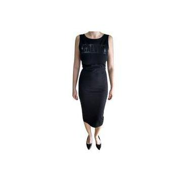 Vestido Calvin Klein Logo Black Tubinho