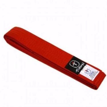 Faixas Vermelha Reforcada Torah KFR-06, Cor: Vermelho, Tamanho: A2