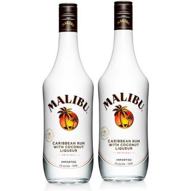 Kit 2 Rum Malibu 750ml