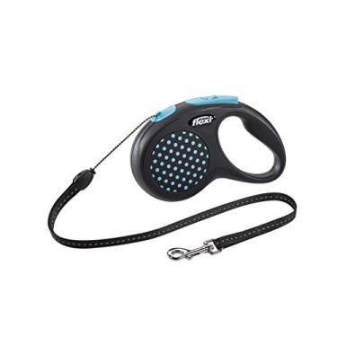 Guia Retrátil Flexi Design Corda P 5m Azul Flexi para Cães, Pequeno, Azul