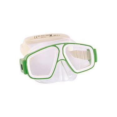 0774d7bb5 Máscara Natação Juvenil Bestway Seascape Dive Mask Branco Verde