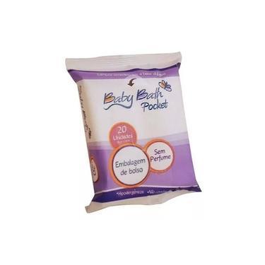 Imagem de Lenços Umedecidos Pocket 20 unidades - Baby Bath B213876 - BRASBABY