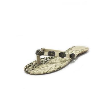Rasteira Teodora's Maitê Cobra 1708 Bege  feminino
