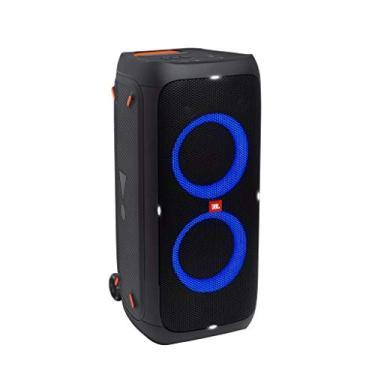 Caixa de som portátil JBL PartyBox 310 com Bluetooth e efeitos de luzes Preto