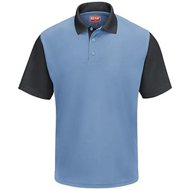 Imagem de Camisa polo Red Kap Performance SK56, Medium Blue / Charcoal, M