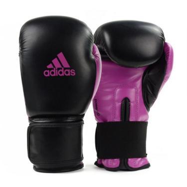 Luva De Boxe Power100 Preto/Rosa 10Oz Adidas