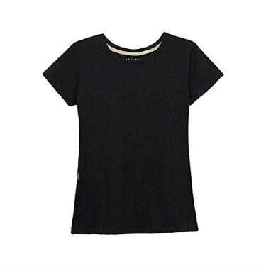 Camiseta Aveloz Feminina Baby Look Preta-XG
