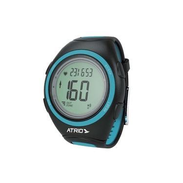 Monitor Cardíaco + Cinta Citius com Contador de Calorias Cronômetro Alarme Preto/Azul Atrio - ES050 - Padrão