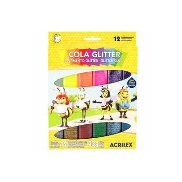 Imagem de Cola Glitter 12 Cores Acrilex