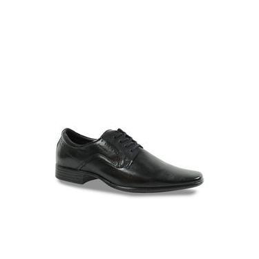 Sapato Social Couro Pegada Masculino Com Cadarço