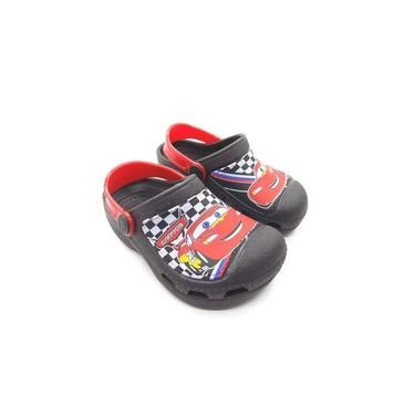 Babuche Infantil Carros Preta Tipo Crocs
