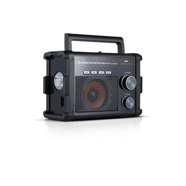 Rádio Portátil AM/FM/SW NKS Excellence AC128 com Entradas USB. SD e Auxiliar