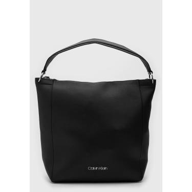 Bolsa Calvin Klein Logo Preta Calvin Klein K60K605040 feminino