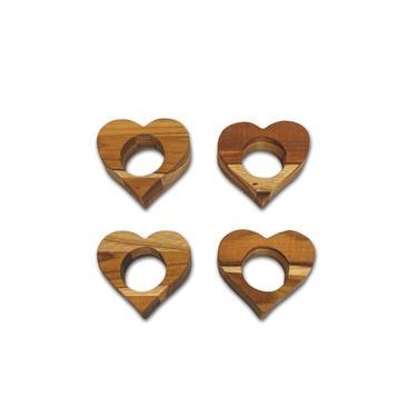 Imagem de Kit Com 6 Porta Guardanapos De Coração Para Linda Mesa Posta