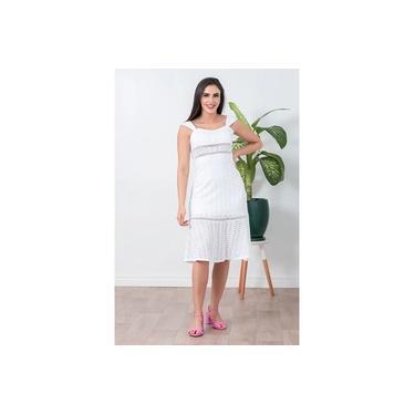 Vestido Feminino Com Alça Laise Branco