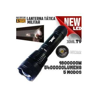 Lanterna Tática Militar Profissional T9 Com Led 4 Janelas