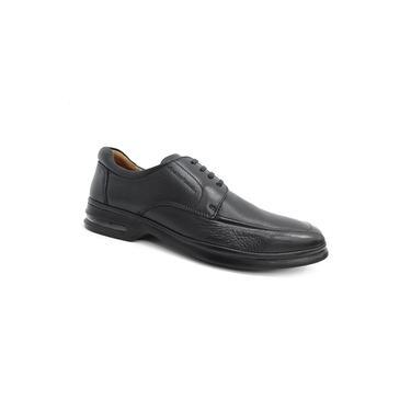 Sapato Couro C/amortecedor 6912 Anatomic Gel (09) - Preto
