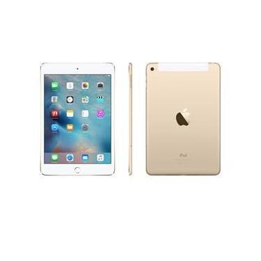 """iPad mini 4 Apple Wi-Fi + Cellular, Tela Retina 7.9"""", 128GB, Sensor Touch ID, Bluetooth, Câmera 8MP, FaceTime HD e iOS 9 - Dourado"""