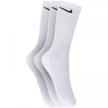 Kit de Meias Cano Alto Nike Everyday Cushioned Crew com 3 Pares - Adulto Nike Unissex