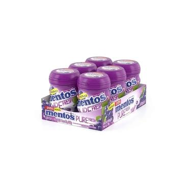 Chiclete Mentos Garrafa Pure Fresh Uva C/6un - Perfetti