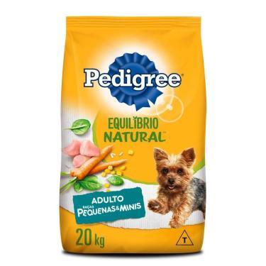 Ração Pedigree Equilíbrio Natural Para Cães Adultos De Raças Pequenas E Minis 20 Kg