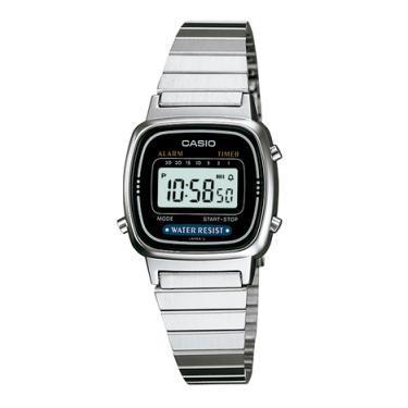 833dacc026a Relógio Casio Vintage Feminino Prata Digital LA670WA-1DF