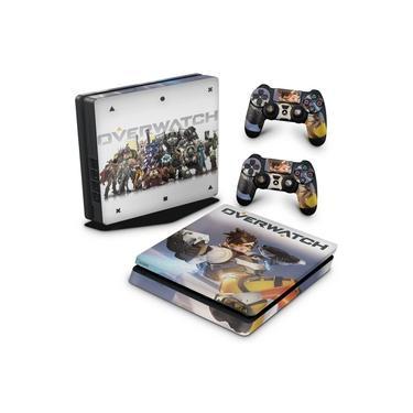 Skin Adesivo para PS4 Slim - Overwatch